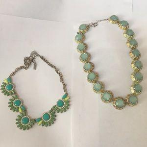 Baublebar green necklace bundle
